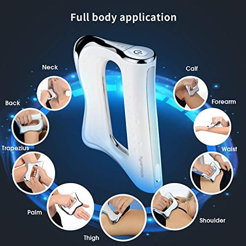 SAKOBS NMES Gua Sha Scraping Massage Tool. Smart Myofascial Therapy Microcurrent & Microvibration Muscle Stimulator for Full Body Muscle Pain ...
