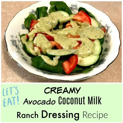 Creamy Avocado Coconut Milk Ranch Dressing Recipe Wellness Twins