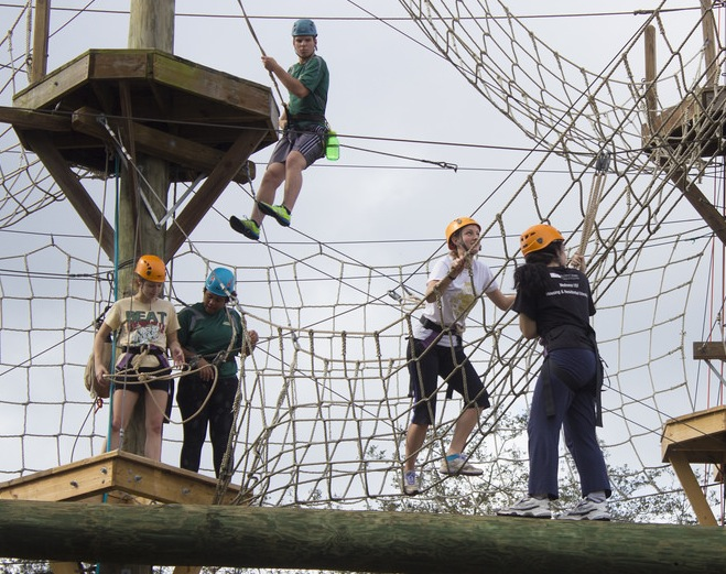WLLC members completed the ropes course together!