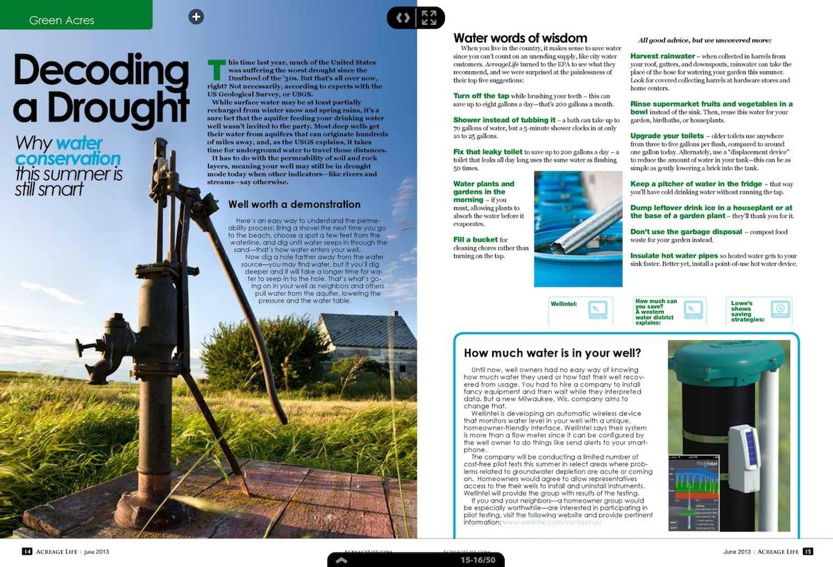 Wellntel in Acreage Life Magazine