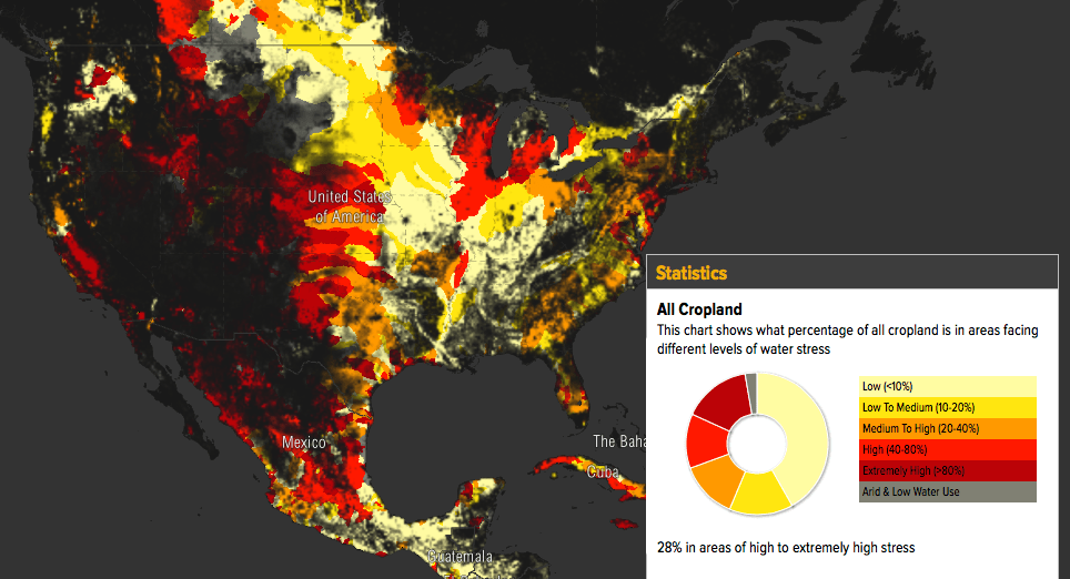 Aquaduct's Ag Water Risk Map