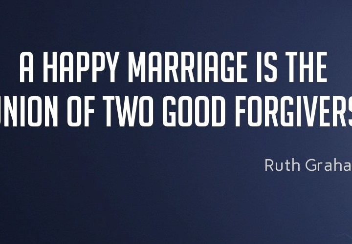 A happy marriage is the union
