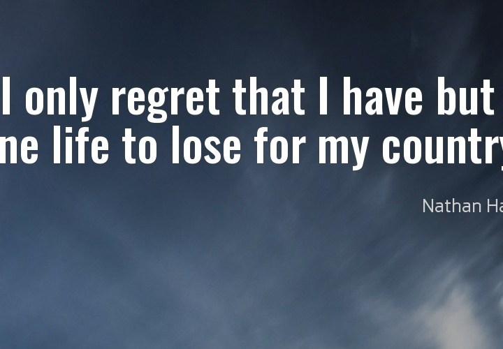 I only regret