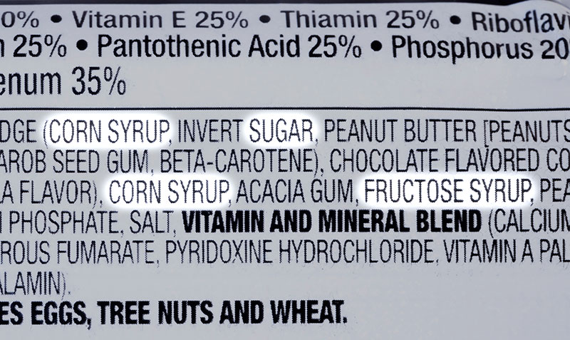 Added sugar in foods
