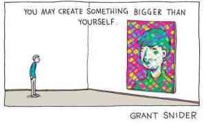 The self-portrait is an ancient art form