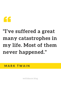 How to stop worrying by Mark Twain