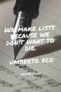Why we make lists