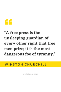 Winston Churchill on the importance of a free press