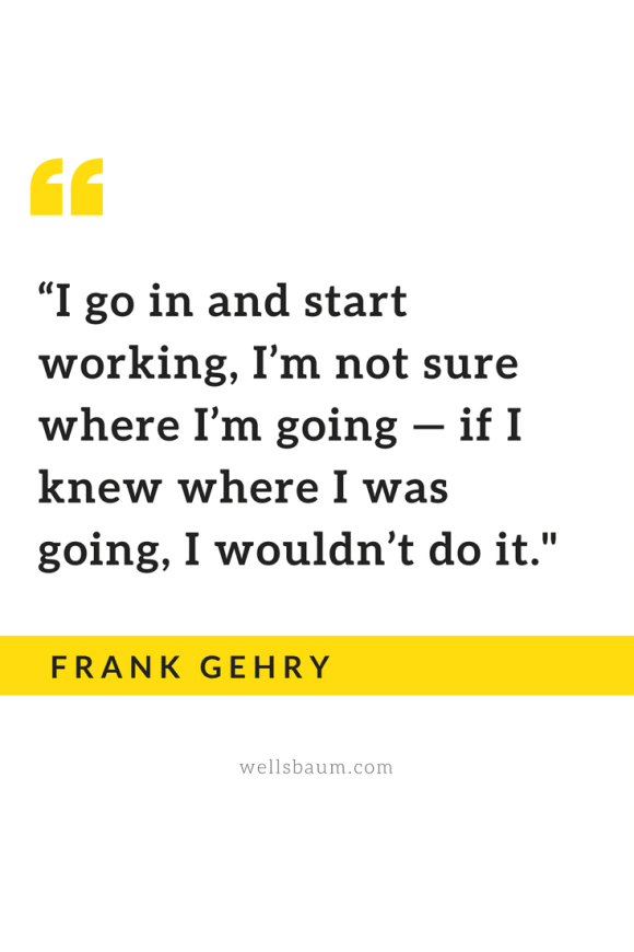'If I knew where I was going, I wouldn't do it.'