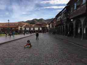 Bookends: Red and blue in Cusco