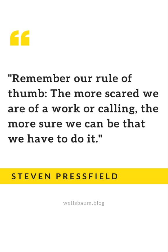 steven pressfield scared work