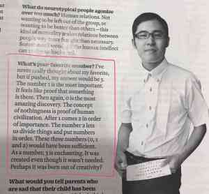 What's your favorite number? Autistic author Naoki Higashida provides a beautiful answer