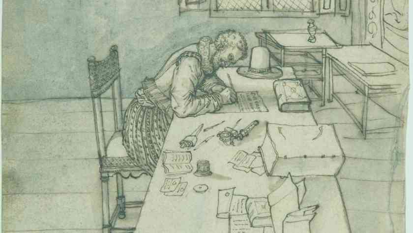 Interior with a Man Writing on a Long Table.jpg