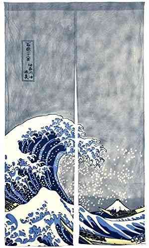 Japanese artist Katsushika Hokusai finished his most famous work, The Great Wave, at the age of 71. #ocean #art #waves #doorcurtain #interior #house #apartment