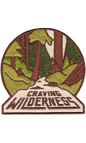 Craving Wilderness Embroidered Sew or Iron-on Patch