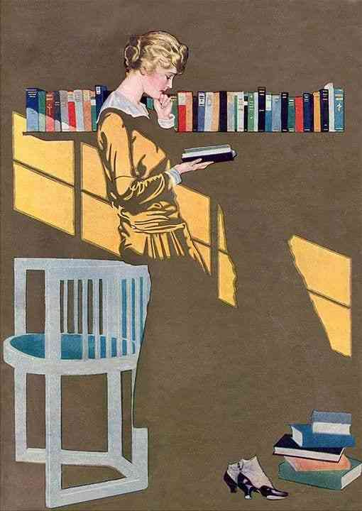 "Coles Phillips ""fade-away"" technique"