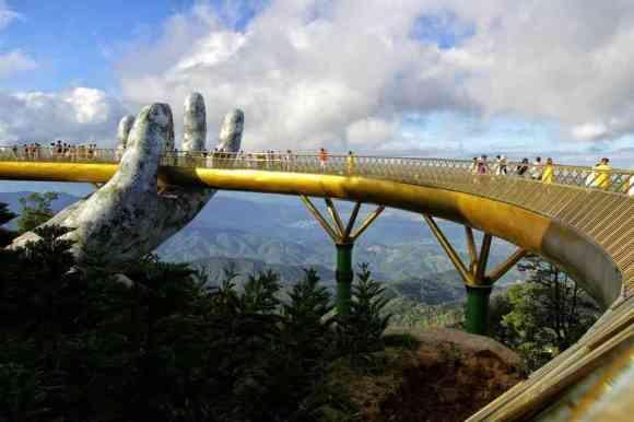 Vietnam's Magical Golden Bridge 👐