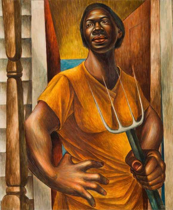 """Paint is the only weapon I have with which to fight what I resent,"" Charles White"