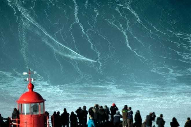 Surfing a word-record 80 foot gigantic wave #nature