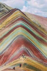 Over and into the Rainbow Mountain in Peru