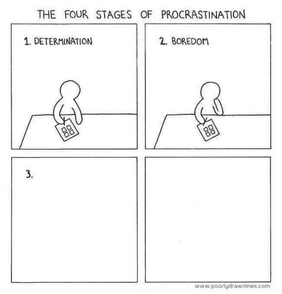 The structured procrastination strategy