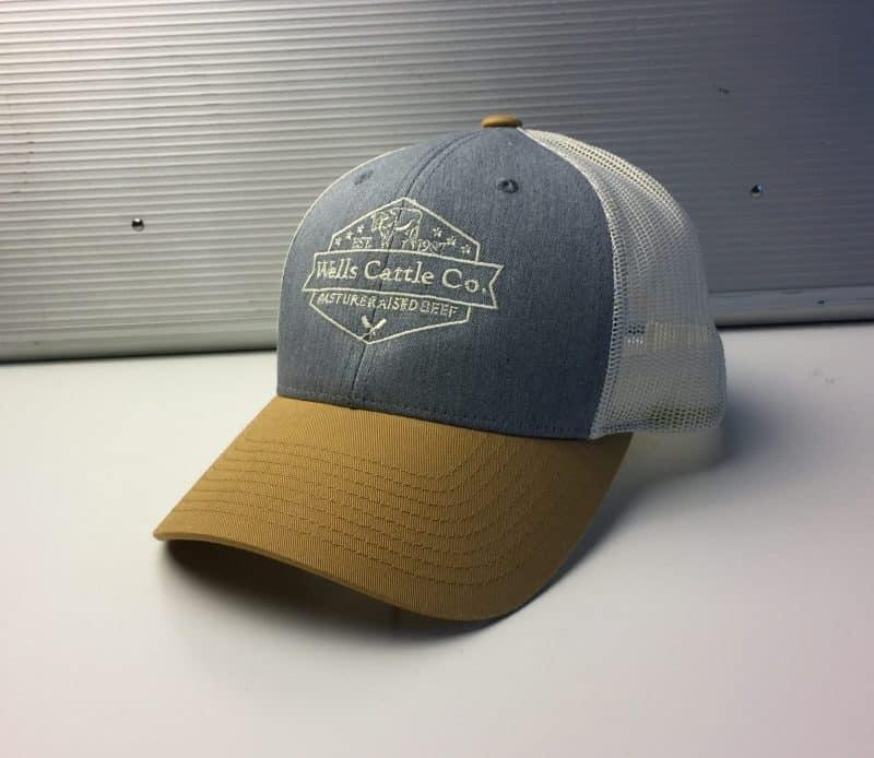 Wells Cattle Co. Premium Logo Hats (Tri-color)  4117a044703