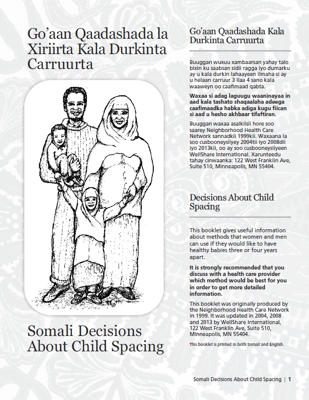 Somali Decisions About Child Spacing Booklet: Go'aan