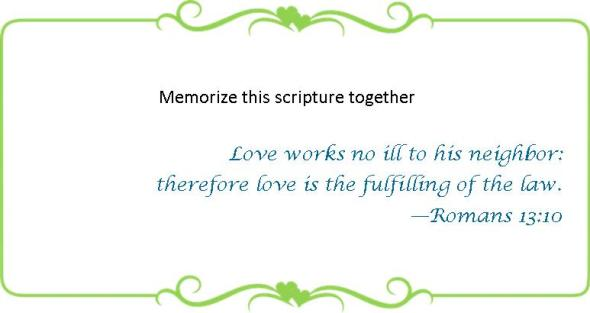 028 Memorize Romans 13 10
