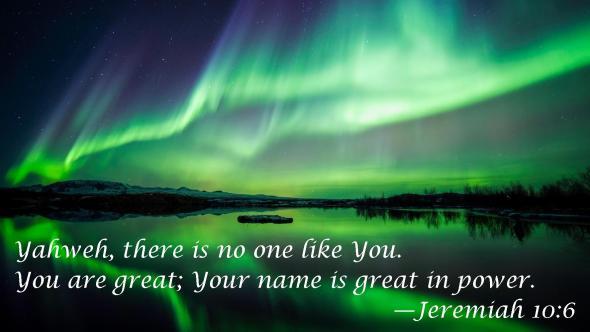 Jeremiah 10 6