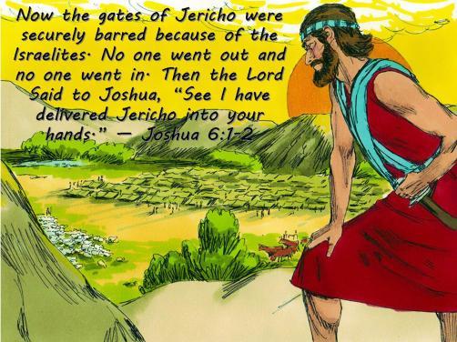 Joshua 6 1-2