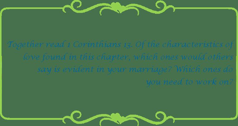 093 1 Cor 13 characteristics of love