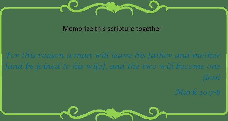 118 memorize Mark 10 7-8