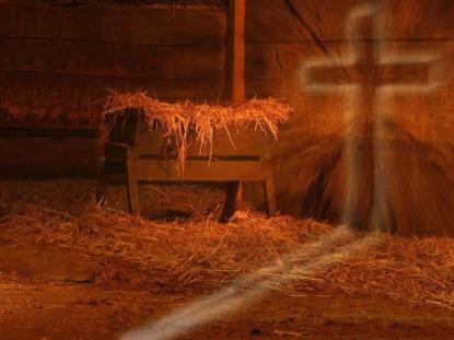 manger and cross