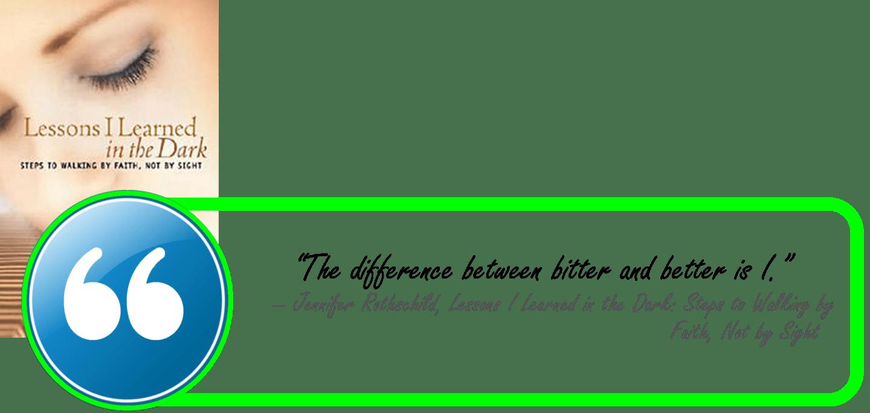 Rothschild-lessons learned in the dark-bitter or better