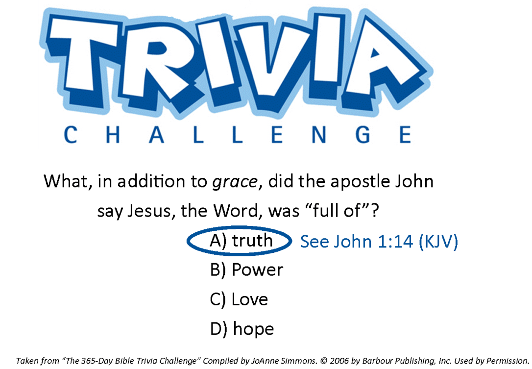 Jesus the Word - Answer