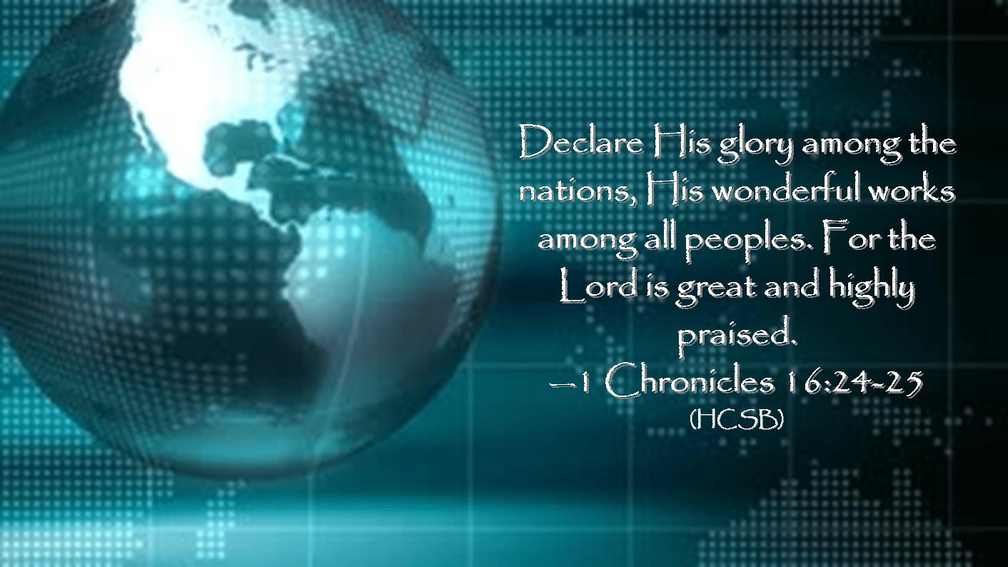 1 Chronicles 16 24-25