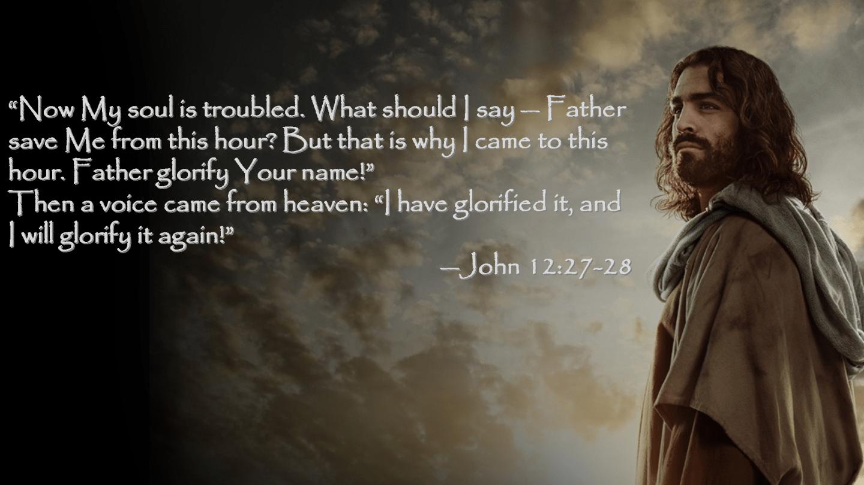 John 12 27-28