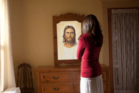 christ in mirror