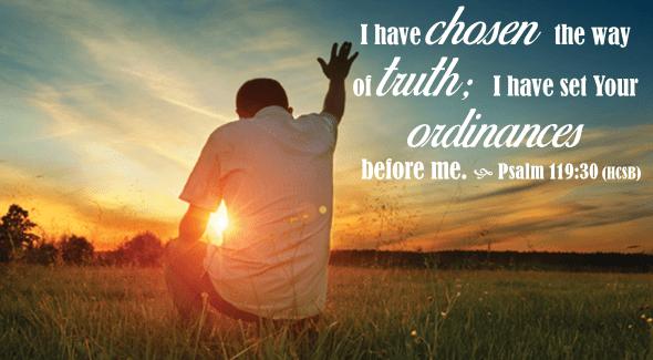 Psalm 119 30