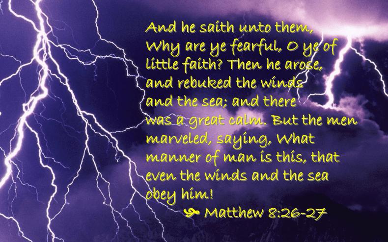 Jan 9 Matthew 8 26-27