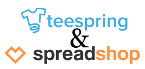 teespring spreadshop logos