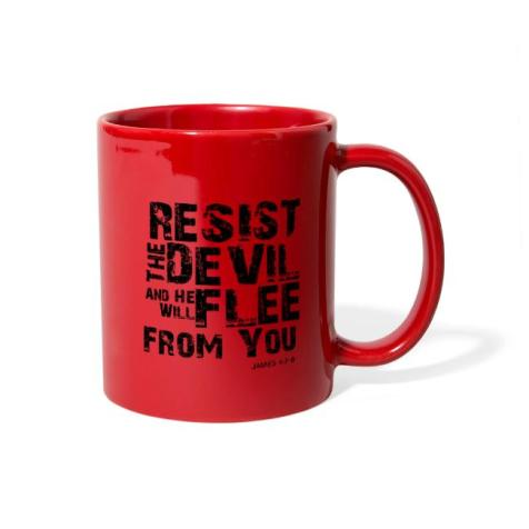 resist the devil mug
