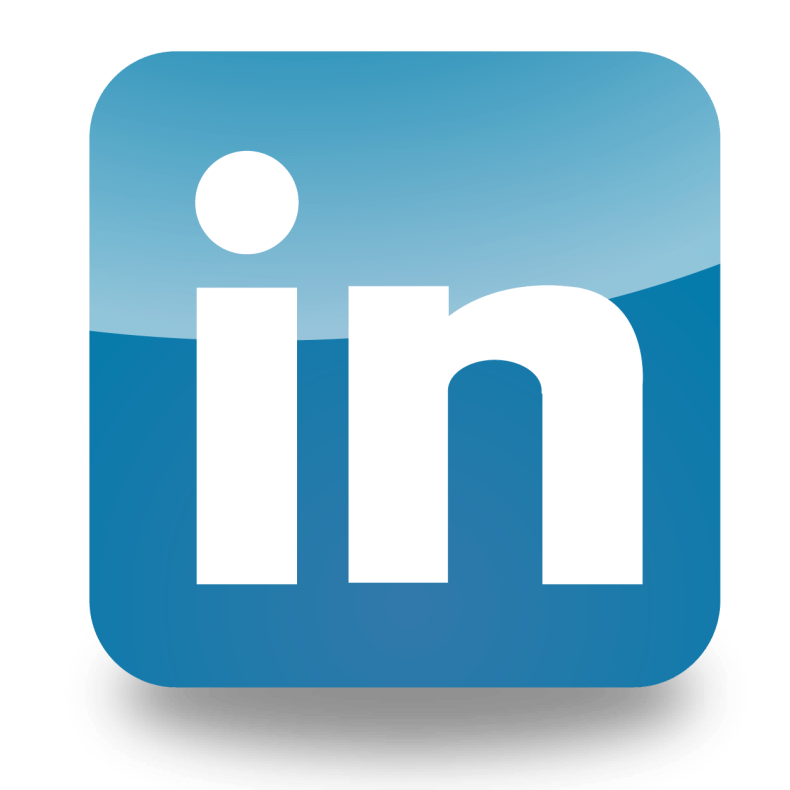 LinkedIn logo link on self-care post