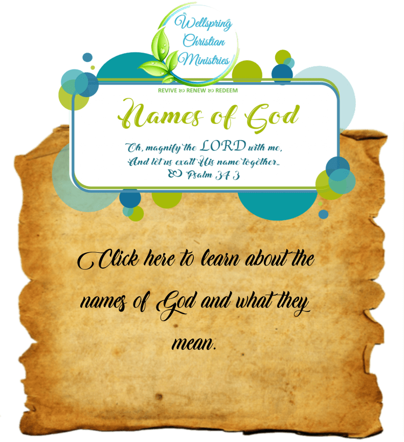 Names of God link graphic from the self-care quote page