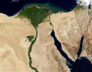Nile River and Nile Delta from Space (NASA), via Wikimedia Commons