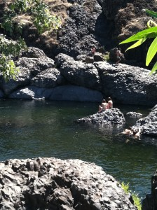 Bear Hole, Basalt Pool in Upper Bidwell Park, Chico, California, JHD