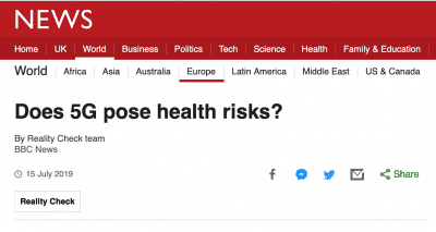 5G and Health - BBC article
