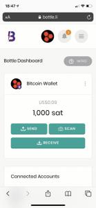 Sending Bitcoin via social media