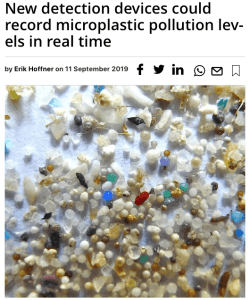 what is sustainability - technology for measuring micro plastics in realtime