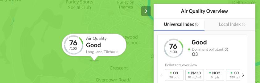 clean air quality aqi